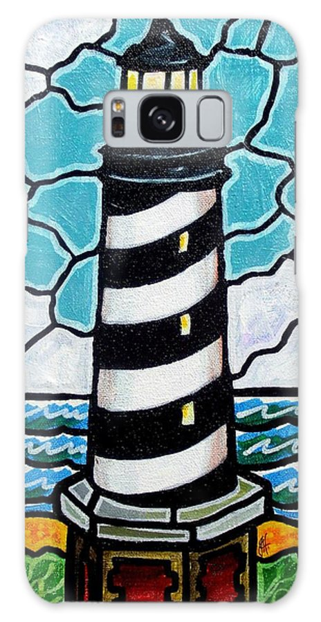 Lighthouse Galaxy Case featuring the painting Hatteras Island Lighthouse by Jim Harris
