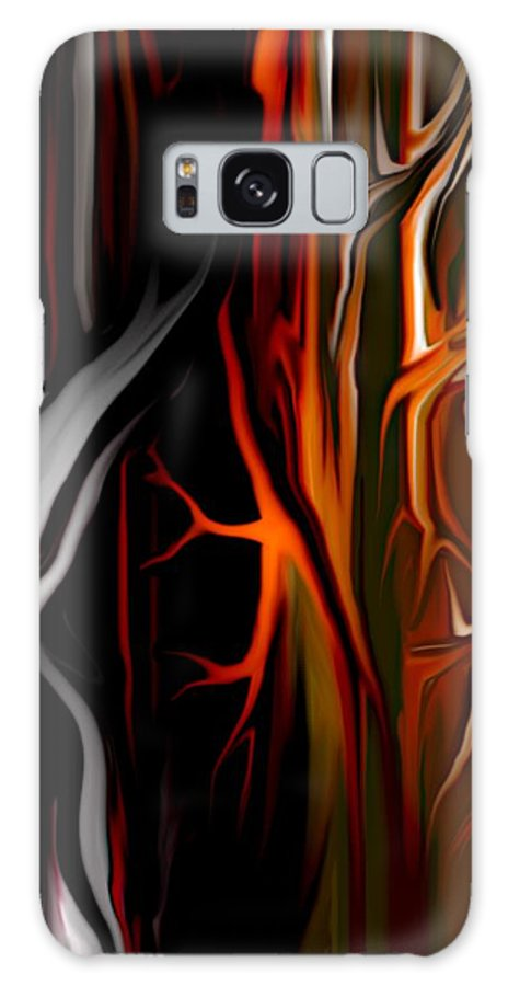 Abstract Digital Painting Galaxy S8 Case featuring the digital art Haunted by David Lane
