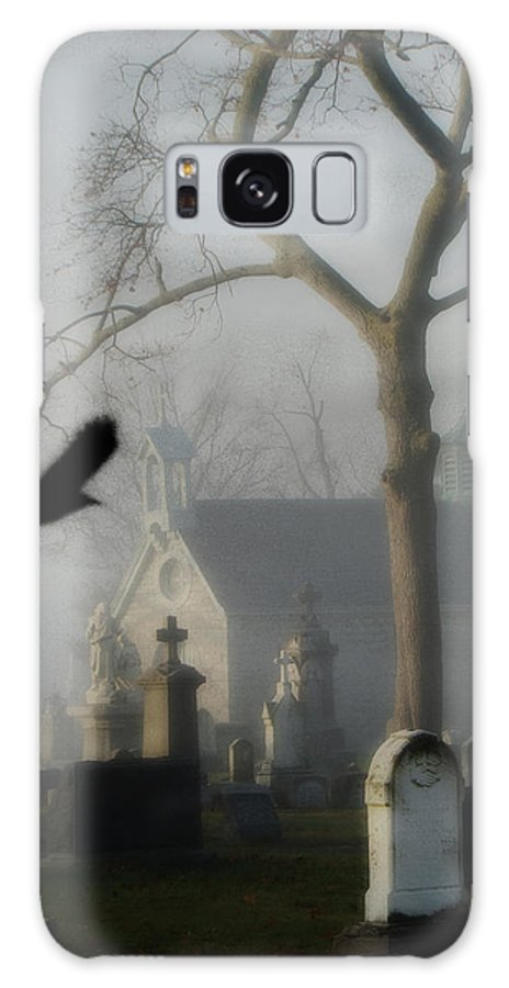 Cemetery Galaxy S8 Case featuring the photograph Haunted Halloween Cemetery by Gothicrow Images