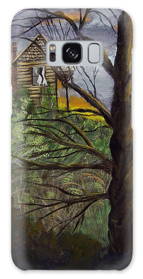 House Galaxy Case featuring the painting Haunted House by Quwatha Valentine