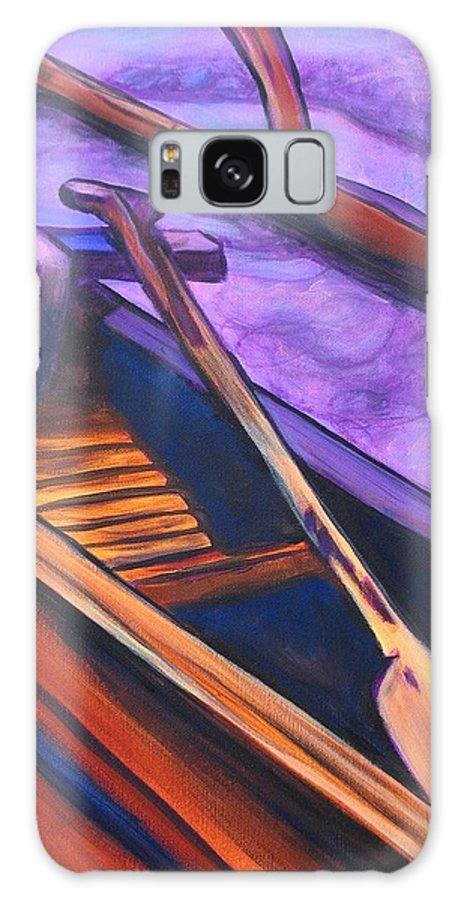 Canoe Galaxy S8 Case featuring the painting Hawaiian Canoe by Marionette Taboniar