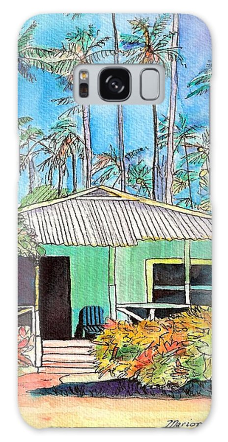 Cottage Galaxy Case featuring the painting Hawaiian Cottage I by Marionette Taboniar