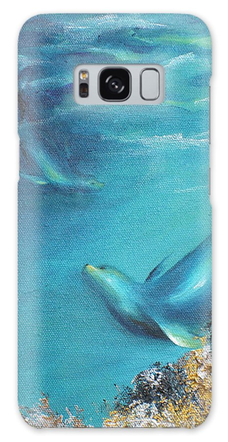 Seal Galaxy S8 Case featuring the painting Hawaiian Monk Seals by Dina Dargo