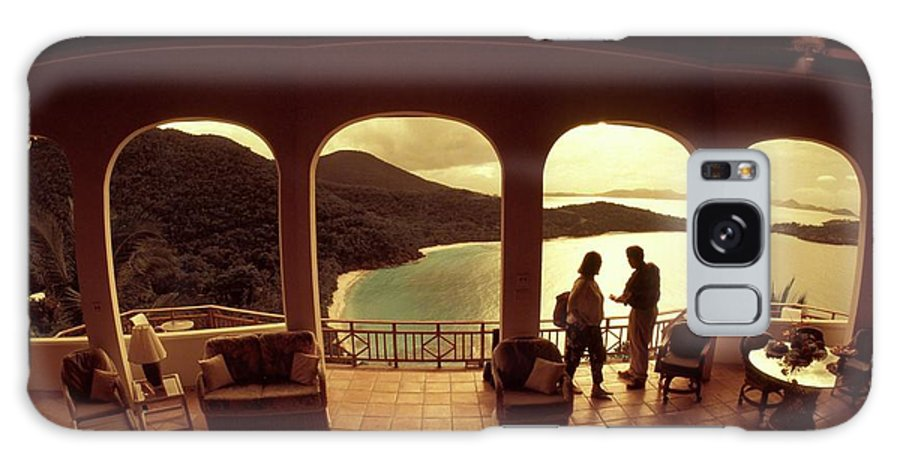 Sunset Galaxy S8 Case featuring the photograph Hawks Nest Villa On St Johns by Carl Purcell