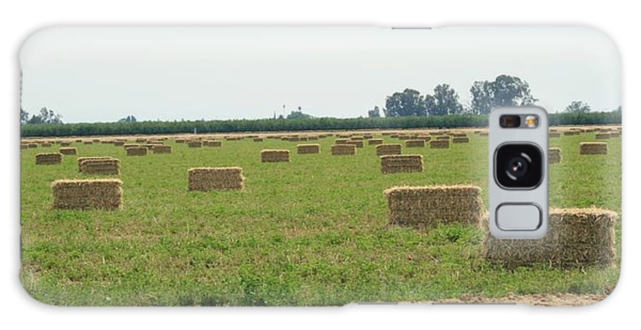 Hay Galaxy Case featuring the photograph Hay Bales by Joshua Sunday