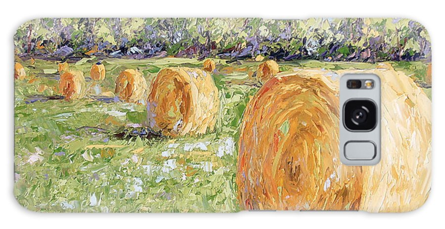 Hay Galaxy S8 Case featuring the painting Hay Rolls by Lewis Bowman