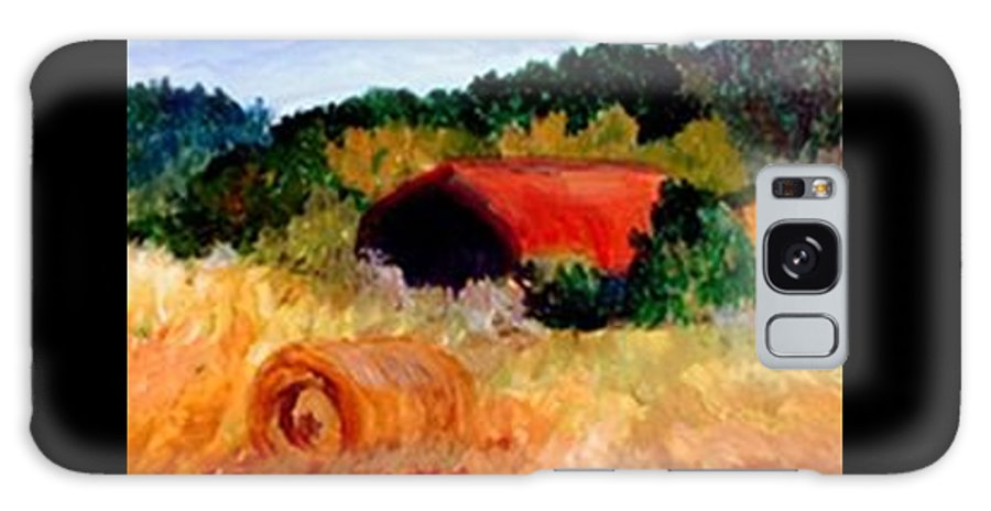 Hayrolls Galaxy S8 Case featuring the painting Hayrolls by Gail Kirtz