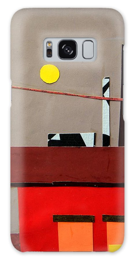 City Galaxy S8 Case featuring the mixed media Hazy Rooftops 2 by Debra Bretton Robinson