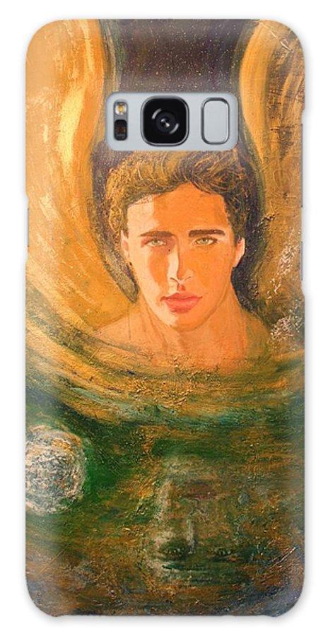 Alma Yamazaki Galaxy S8 Case featuring the painting Healing With The Golden Light by Alma Yamazaki