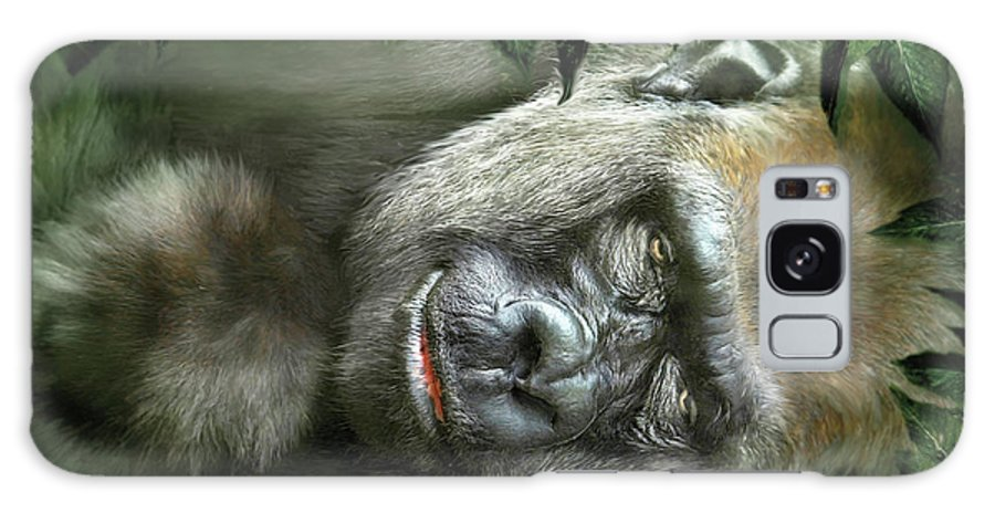 Gorilla Galaxy S8 Case featuring the mixed media Heart Of A Beast by Carol Cavalaris