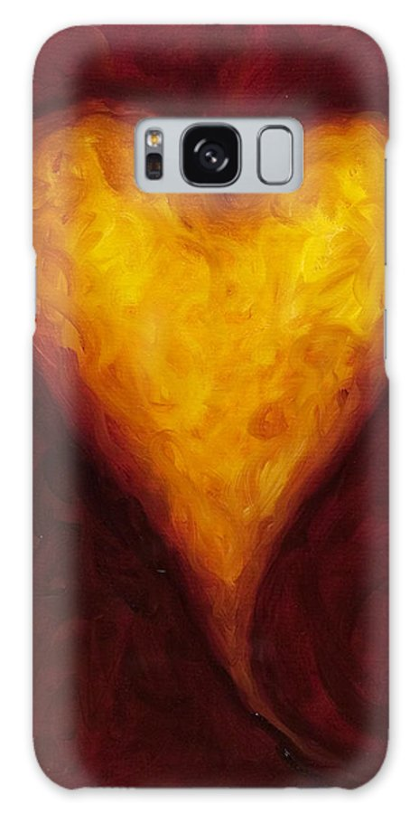 Heart Galaxy S8 Case featuring the painting Heart Of Gold 1 by Shannon Grissom