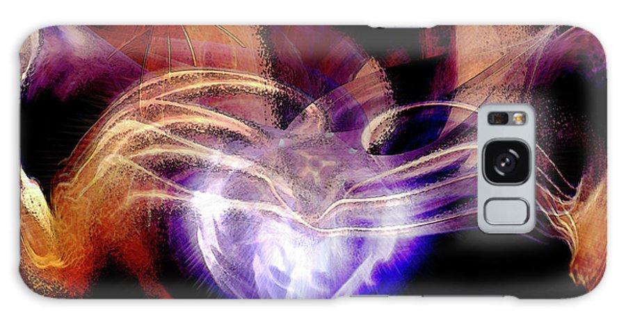 Heart Wings Galaxy S8 Case featuring the digital art Heart Wings by Linda Sannuti
