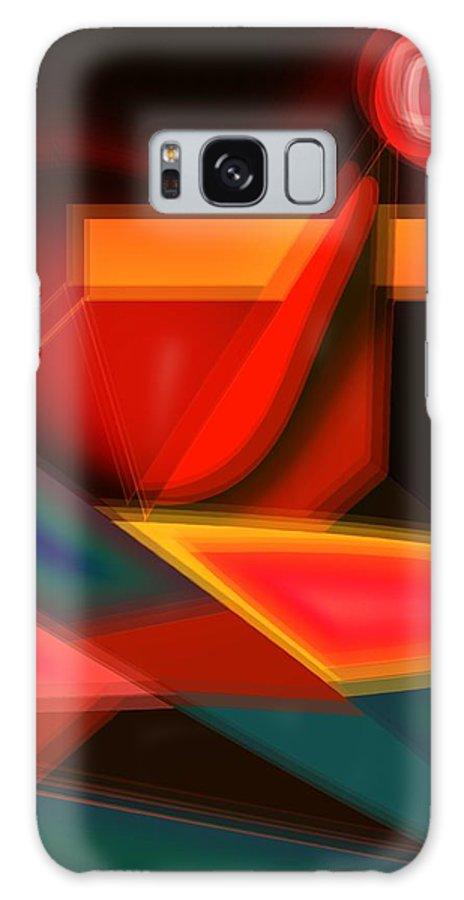 Heartbeat Galaxy S8 Case featuring the digital art Heartbeats by Helmut Rottler