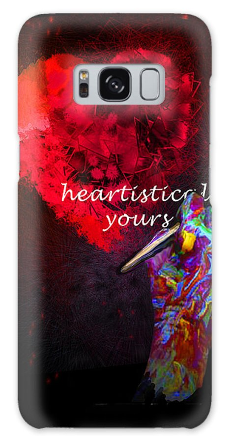 Valentine Galaxy S8 Case featuring the painting Heartistically Yours by Miki De Goodaboom