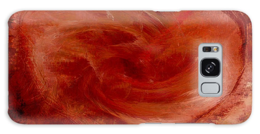 Heart Art Galaxy Case featuring the digital art Hearts Of Fire by Linda Sannuti
