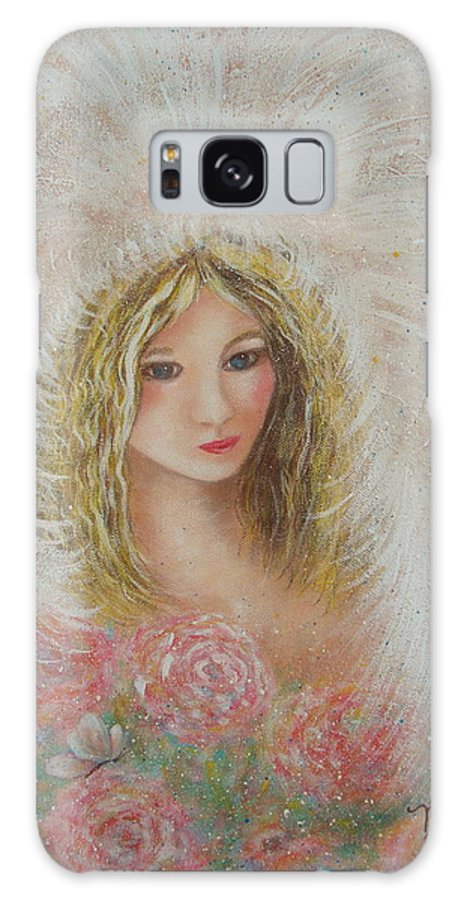 Angel Galaxy S8 Case featuring the painting Heavenly Angel by Natalie Holland