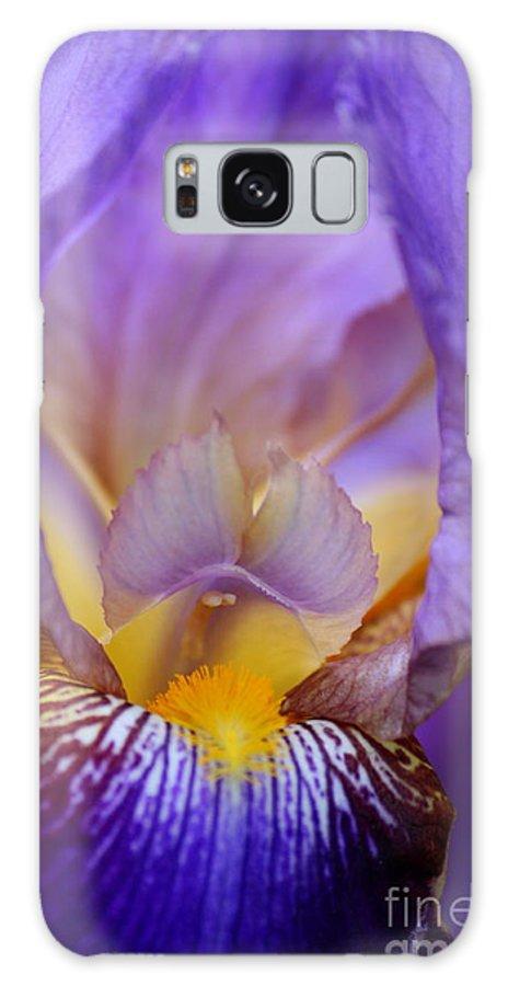 Iris Galaxy S8 Case featuring the photograph Heavenly Iris by Carol Groenen