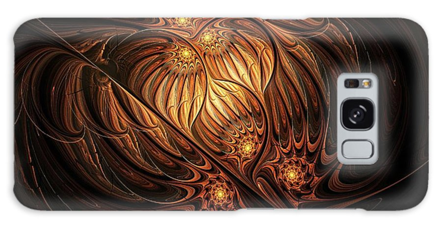 Digital Art Galaxy Case featuring the digital art Heavenly Onion by Amanda Moore
