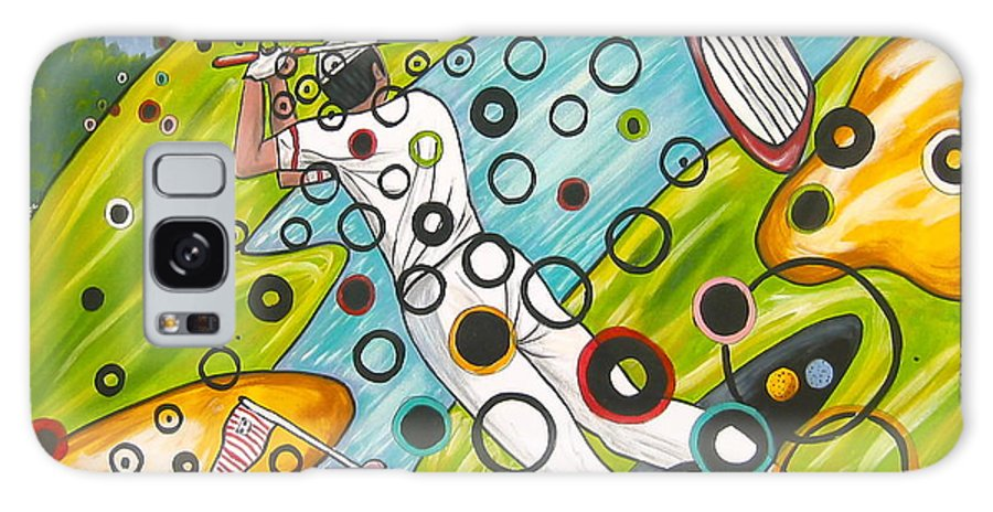 Golf Galaxy S8 Case featuring the painting Heavenly Swing by V Boge