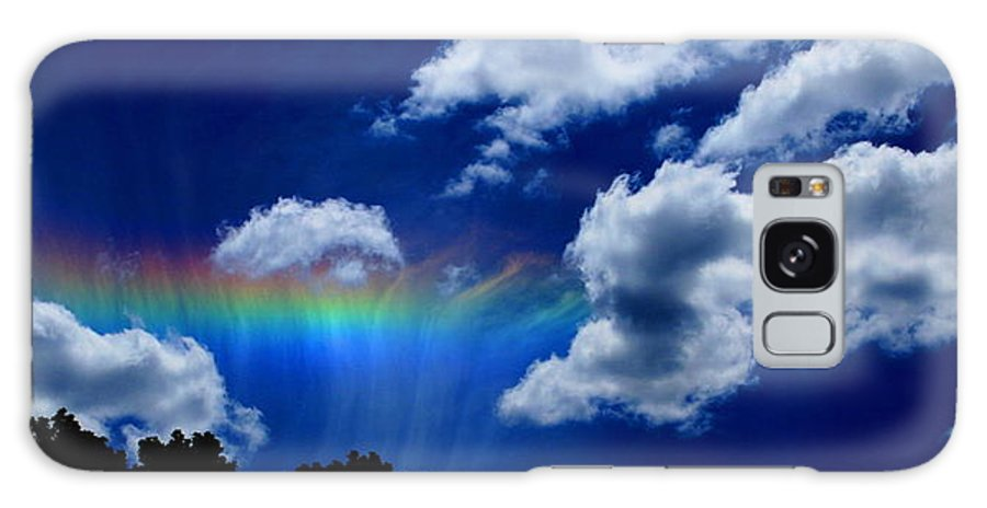 Heavens Rainbow Galaxy S8 Case featuring the photograph Heavens Rainbow by Linda Sannuti