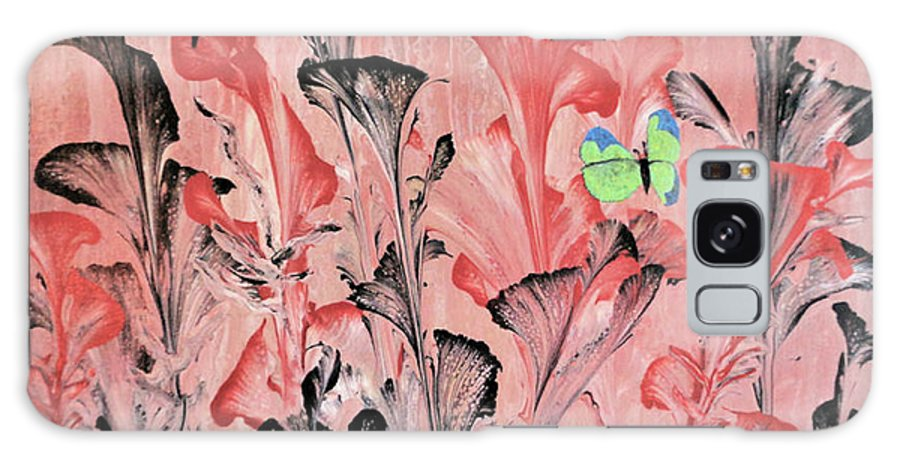 Decorative Wall Art Galaxy Case featuring the painting Heavy Metal Garden by Diana Robbins