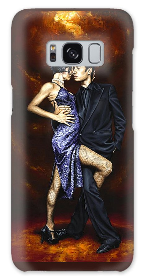 Tango Galaxy S8 Case featuring the painting Held in Tango by Richard Young