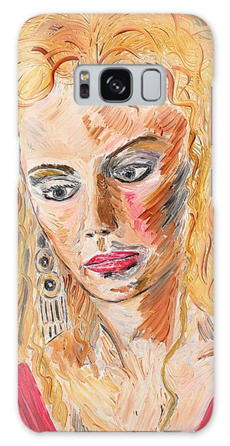 Helen Galaxy S8 Case featuring the painting Helen Of Troy by Valerie Ornstein