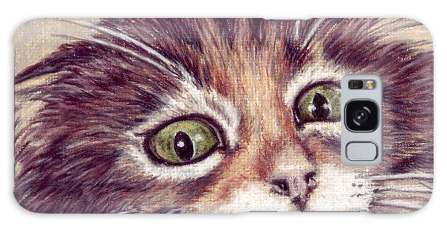 Cat Galaxy S8 Case featuring the drawing Hello Clarice by Kristen Wesch