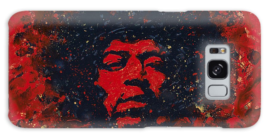 Jimi Hendrix Galaxy S8 Case featuring the painting Hendrix by Chris Mackie