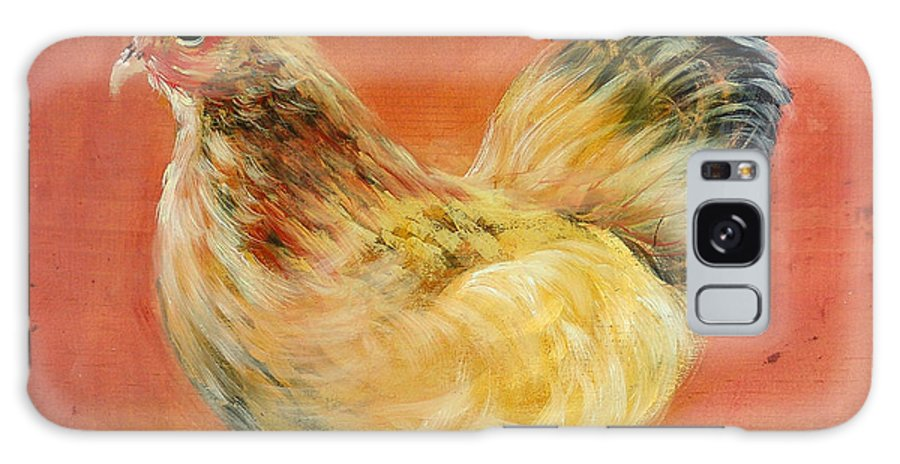 Chickens Galaxy Case featuring the painting Henney by Sally Seago