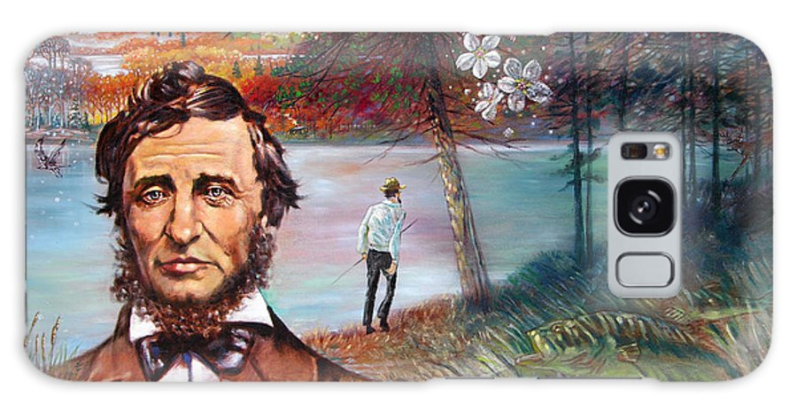 Henry David Thoreau Galaxy S8 Case featuring the painting Henry David Thoreau by John Lautermilch