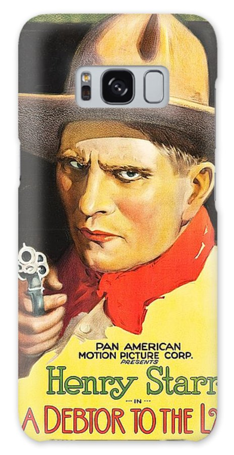 Movie Galaxy S8 Case featuring the drawing Henry Starr In A Debtor To The Law 1919 by Mountain Dreams