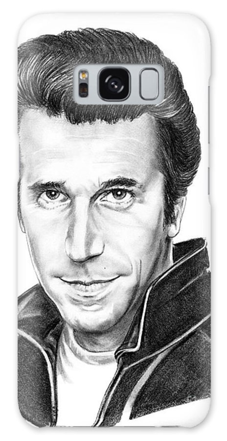 Portrait Galaxy S8 Case featuring the drawing Henry Winkler The Fonz by Murphy Elliott