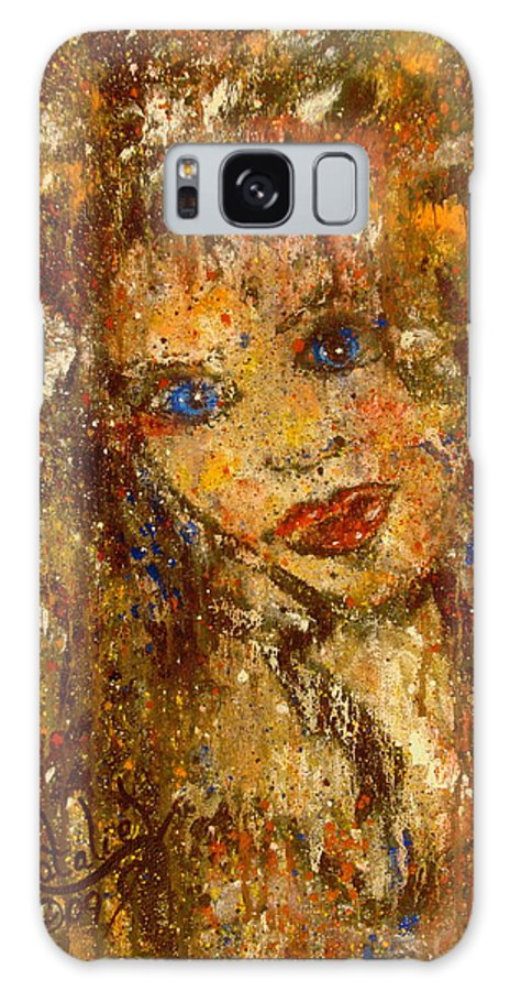 Female Galaxy S8 Case featuring the painting Her Blue Eyes by Natalie Holland