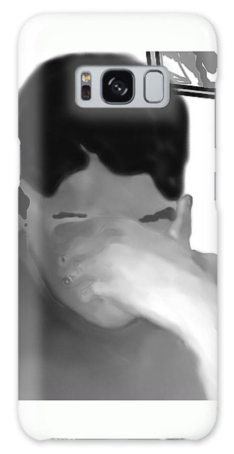 Illustration Galaxy S8 Case featuring the drawing Her Hidden Burden by Pharris Art