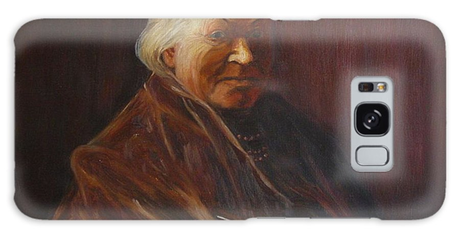 Woman Galaxy Case featuring the painting Herbert Abrams Mother by Quwatha Valentine