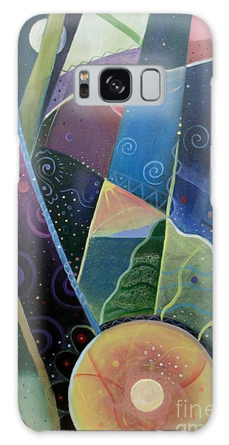 Multi-dimensional Galaxy S8 Case featuring the painting Here And There by Helena Tiainen