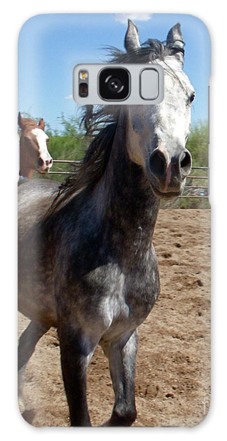 Horse Galaxy S8 Case featuring the photograph Here They Come by Amy Strong