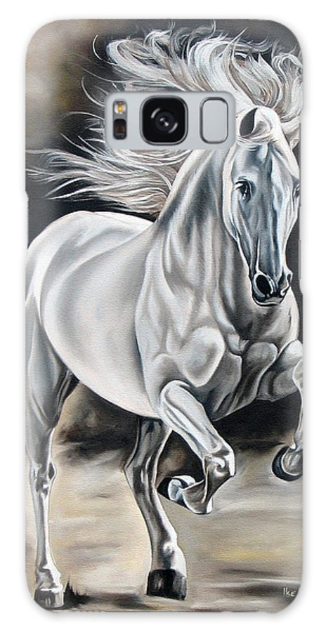 Horse Galaxy Case featuring the painting Hereje by Ilse Kleyn