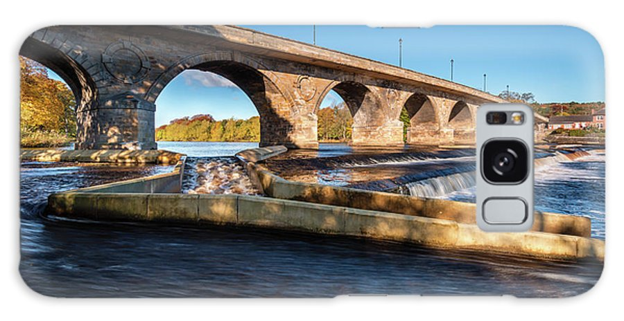 Northumberland Galaxy S8 Case featuring the photograph Hexham Bridge And Fish Pass by David Head