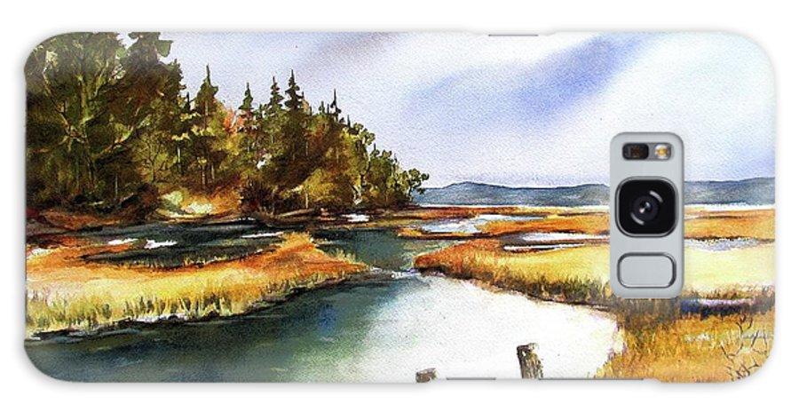 Vashon Island Galaxy S8 Case featuring the painting Heyer Pt  Vashon Wa by Marti Green
