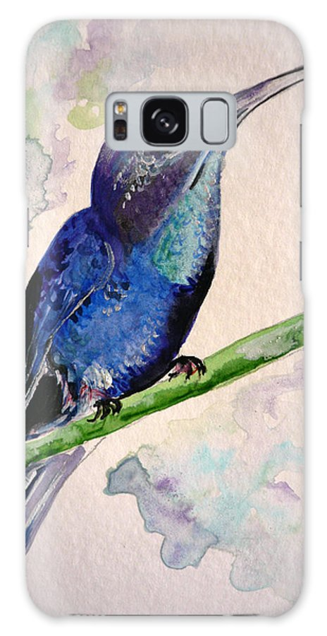 Hummingbird Painting Bird Painting Tropical Caribbean Painting Watercolor Painting Galaxy Case featuring the painting hHUMMINGBIRD 2  by Karin Dawn Kelshall- Best