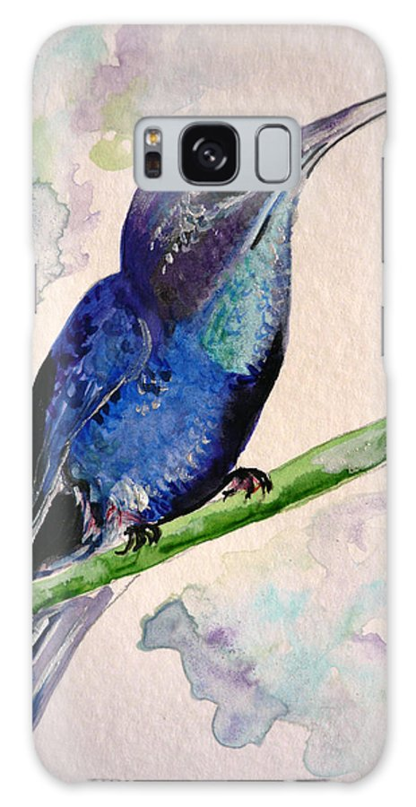 Hummingbird Painting Bird Painting Tropical Caribbean Painting Watercolor Painting Galaxy S8 Case featuring the painting hHUMMINGBIRD 2  by Karin Dawn Kelshall- Best