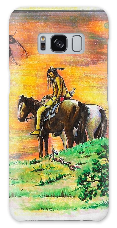 Native Galaxy S8 Case featuring the painting Hi Lighter Pen Painting 2 by Jimmy Smith