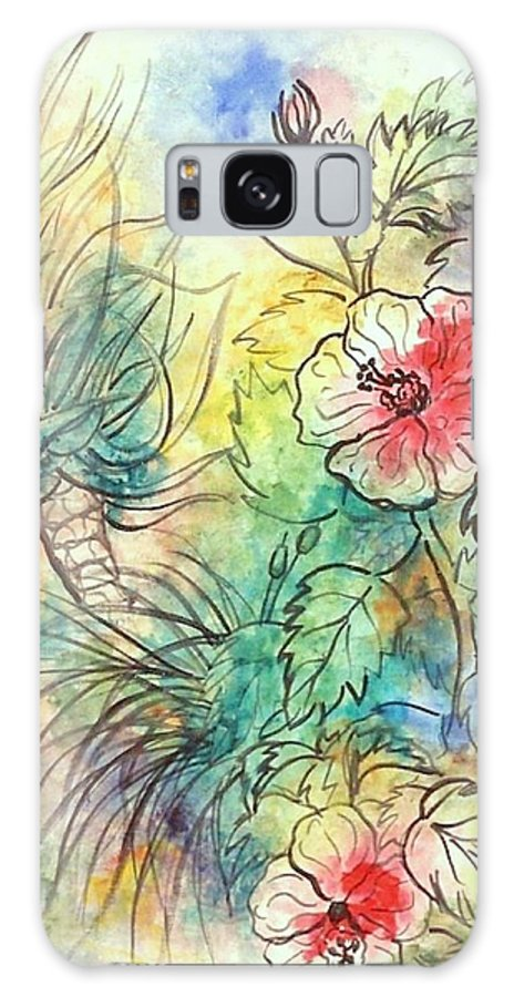 Acrylics Galaxy Case featuring the painting Hibiscus 2 by George I Perez