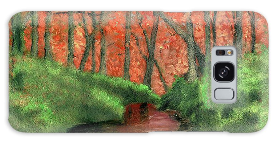 Hidden Galaxy S8 Case featuring the painting Hidden By Trees by Vincent Consiglio