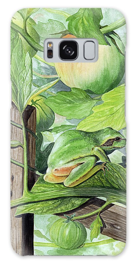 Frog Galaxy S8 Case featuring the painting Hidden II by Mary Tuomi