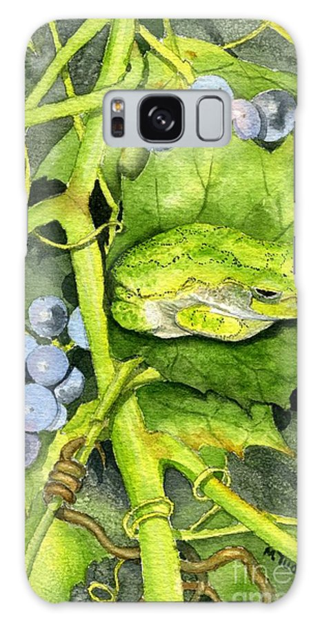 Frog Galaxy Case featuring the painting Hidden IIi by Mary Tuomi
