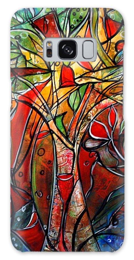 Landscape Galaxy S8 Case featuring the painting Hidden Treasure by Luiza Vizoli