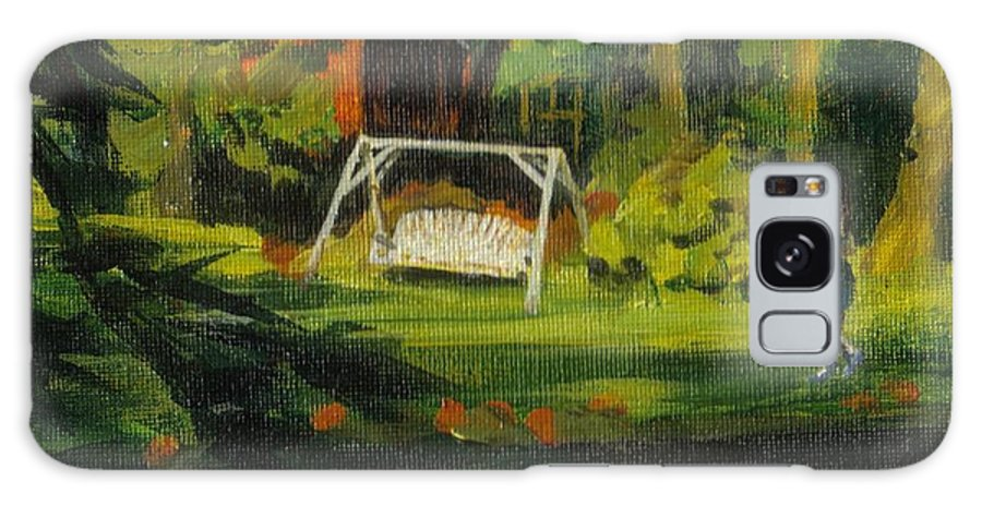 Swing Galaxy S8 Case featuring the painting Hiedi's Swing by Claire Gagnon